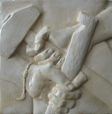 Bas relief: Yael - The Hands of a Woman, by sculptor Rivkah Walton