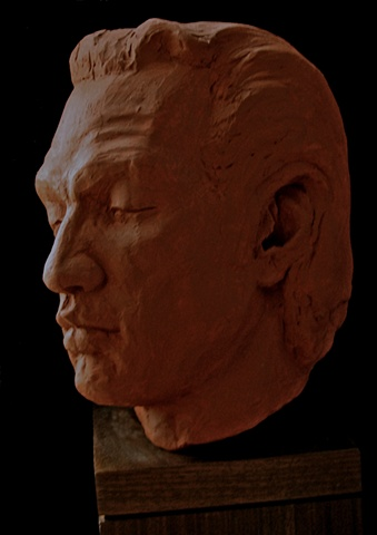 "Dreamer - Life-sized bust by sculptor Rivkah Walton, after ""Portrait of George"" by Stuart Mark Feldman"