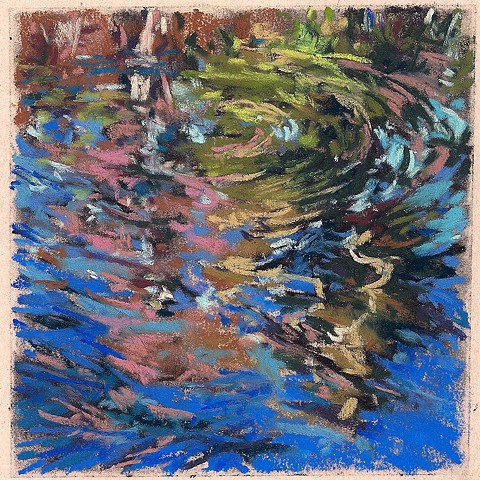 "Spring Reflection I (4 x 4"")"