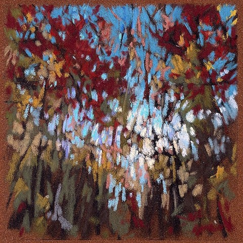 Trees Up Late _6x6