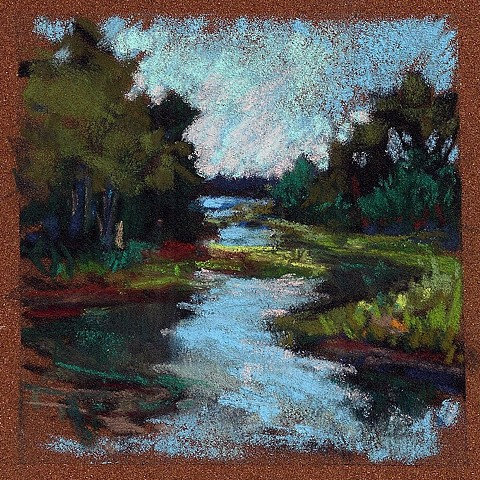 "Summer Marsh- 3.5 x 3.5""_SOLD"