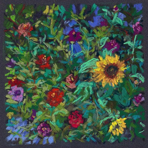 Flower Garden From Above_Sold