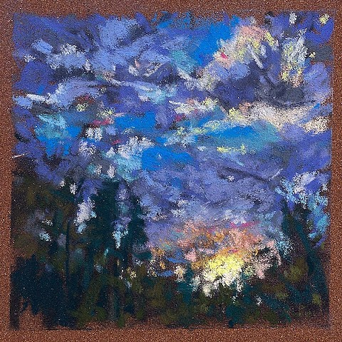 Sunset Over The Trees_3.5x5""