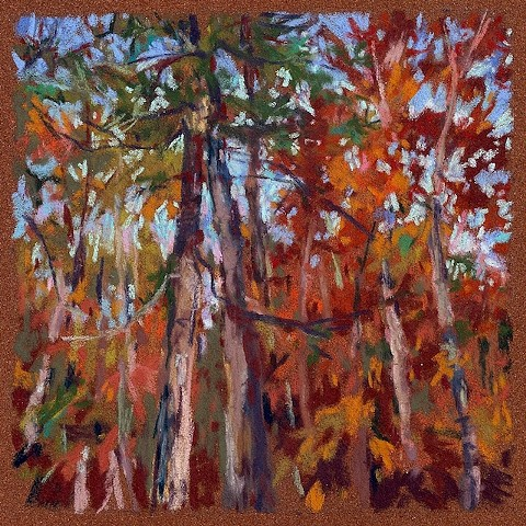 Autumn Song _6x6- SOLD