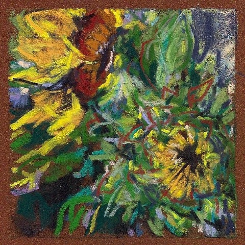 Sunflowers _4.5x4.5""