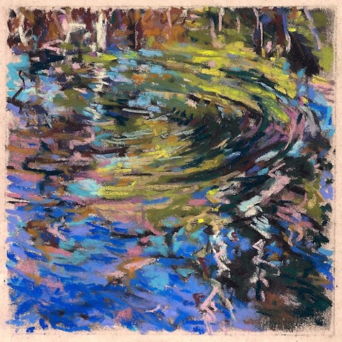 "Spring Reflection II (4 x 4"")_SOLD"