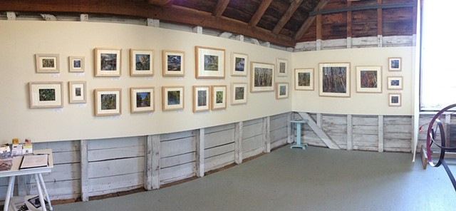 Port Clyde Art Gallery- Installation view Port Clyde, Maine July 2015