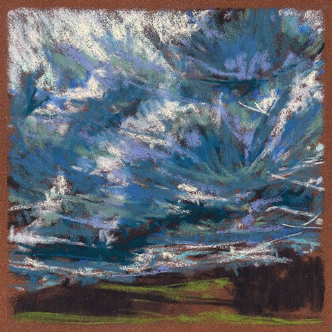 "Sky Over Green Field (6 x 6"")"