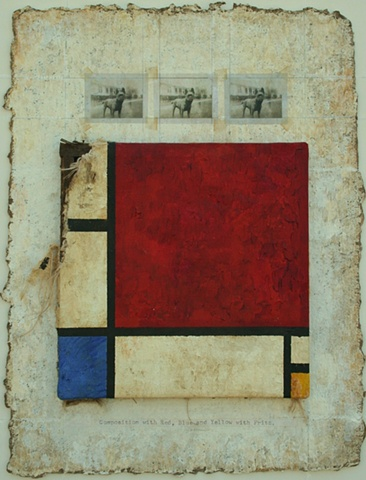 Composition in Red, Blue, Yellow with Fritz
