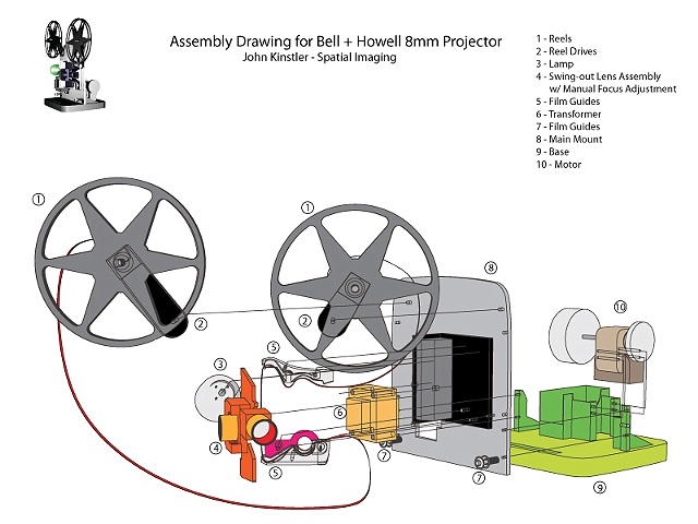 Projector Assembly Diagram