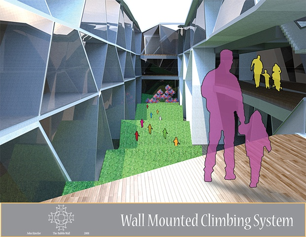 Bubble Wall: Seating + Climbing System