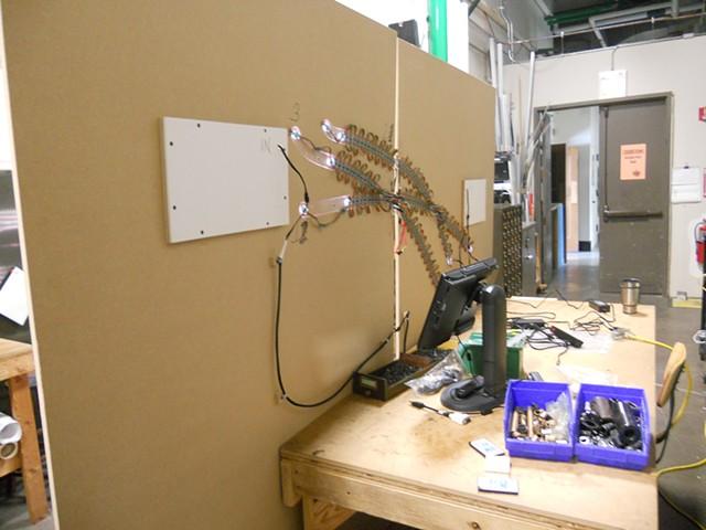 LED light show process photo