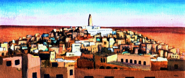ghardaia at sunset