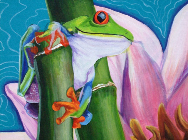 Frog and Lotus detail 3