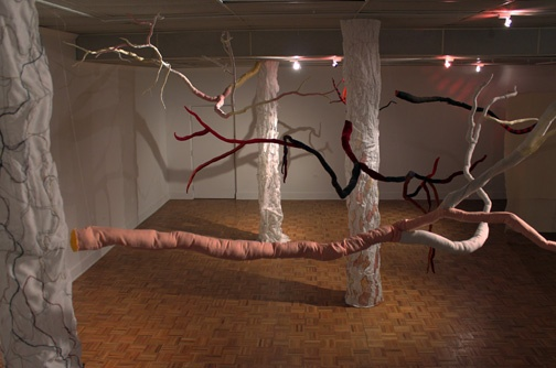 """""""If a tree falls.."""" installation view 2"""