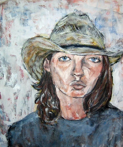 Charley with Straw Hat