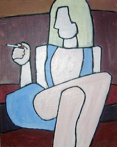 Smoker in Blue