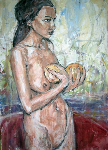 Lady with Oranges