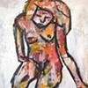 forlorn woman
