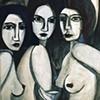 Three Bluish Women