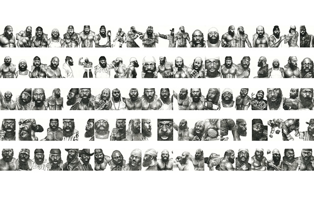 100 drawings of Kimbo Slice over the course of 100 days.