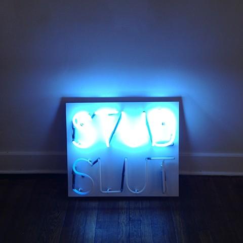 STUD   SLUT Neon Sign