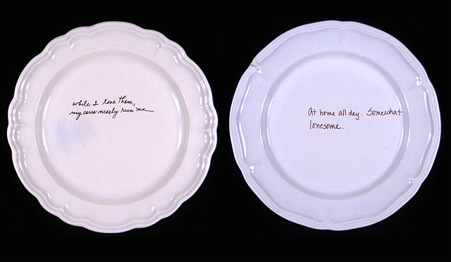 The Setting (details of plates)