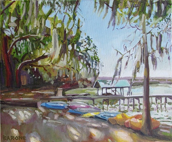 """Painting Lake Wauburg"" --New Paintings by Frank Barone"