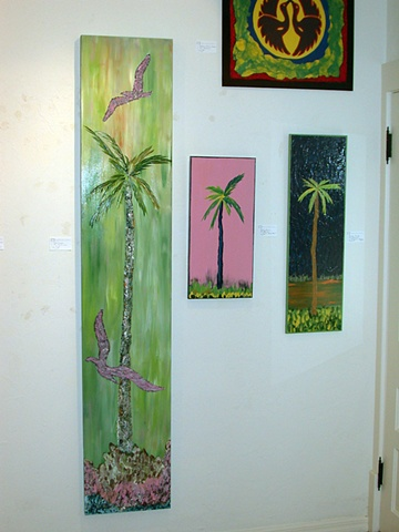 Palm with Birds (left)