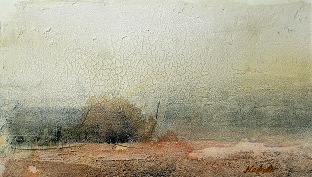 Landscape Acrylic painting by Jim Carpenter on crescent board
