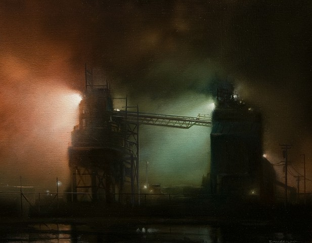 Port Kells Mill in Evening Fog