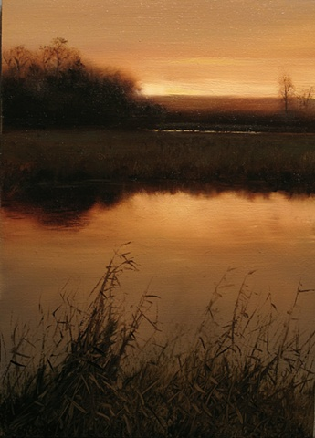 Valley Marsh at Dusk - Study
