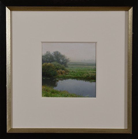 North Canal in Early Autumn - Framed