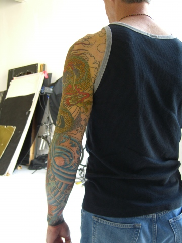 koi and dragon sleeve2