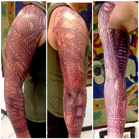 sleeve in progrres. outline