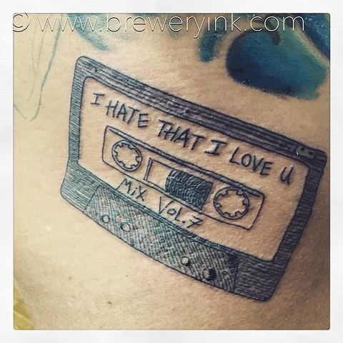 tape casette tattoo