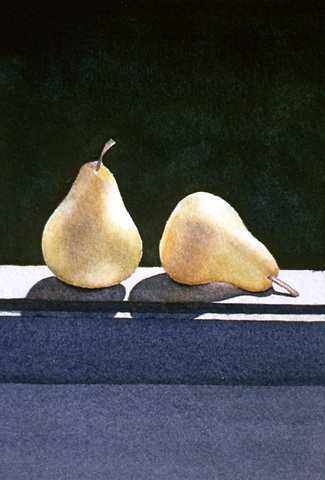 Two Pears on the Sill