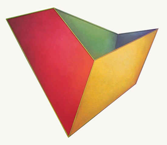 Yvette Cohen lives and works in the Chelsea neighborhood of New York, NY. She creates flat boldly colored shaped painting sculptures, paintings that look like sculptures, positioned to convey infinite air and unlimited possibilities.