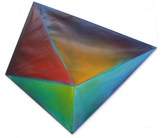installation air space flight color gravity kite oxygen design custom site-specific illusion painting geometric sculptural blue