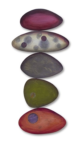 shape color juggling rocks beach flat volume