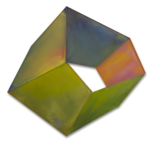 Yvette Cohen lives and works in the Chelsea neighborhood of New York, NY. She creates flat boldly colored shaped painting sculptures, paintings that look like sculptures, positioned to convey infinite air and unlimited possibilities.Geometric, dimension,