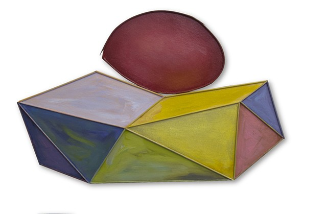 Yvette Cohen lives and works in the Chelsea neighborhood of New York, NY. She creates flat boldly colored shaped painting sculptures, paintings that look like sculptures, positioned to convey infinite air and unlimited possibilities.Rocks juggling beach s