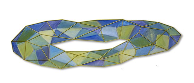 shape color painting sculpture space flat Gem blue