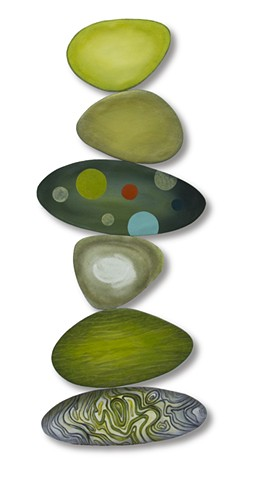 Rocks juggling beach shape color balance sculpture painting flat space