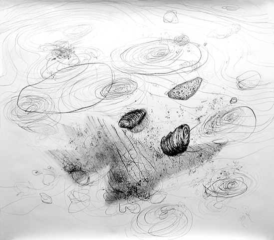 beach wind sand water air infinite breath sky blue space drawing abstract