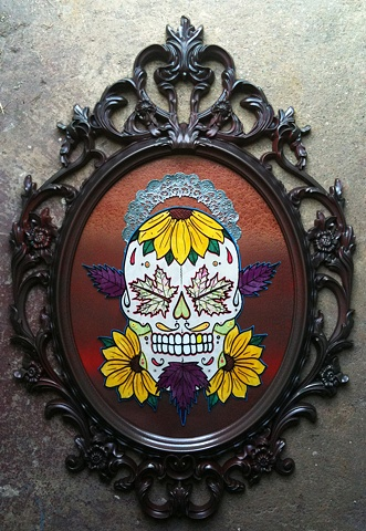 Fall Sugar Skull