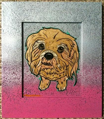 dog painting nyla