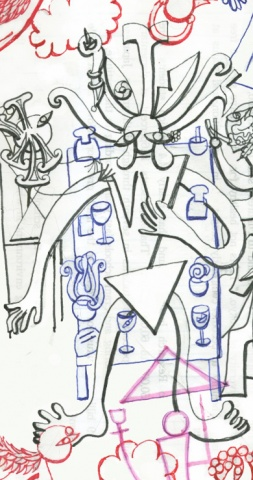 The Drawing of the Squid Woman