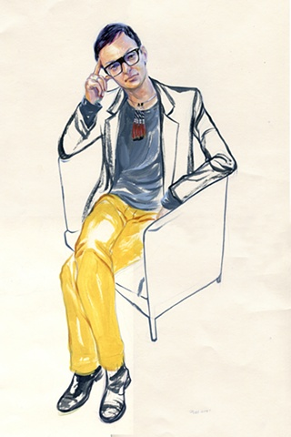 Series of Drawings about San Francisco Street Fashion
