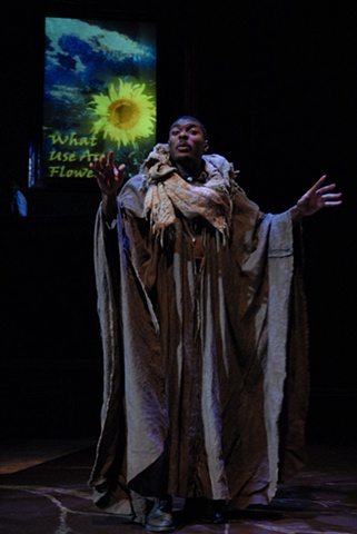 """Jamar Brown as the Hermit from """"What Use Are Flowers"""""""